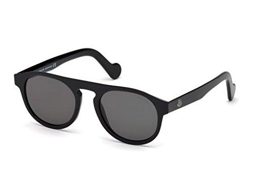 Moncler Unisex-Erwachsene ML0073 01A 51 Sonnenbrille, Schwarz (Nero Lucido/Fumo),