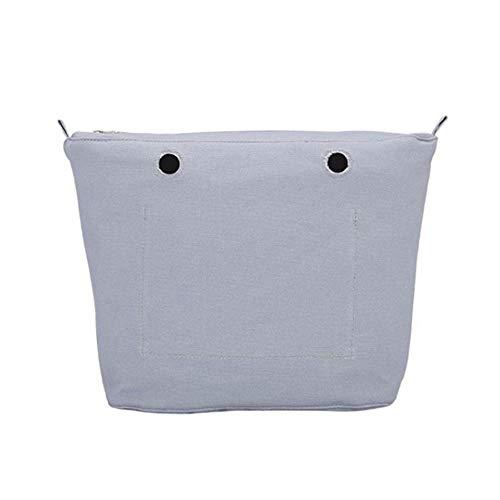 Bolsa interior bolso OŽbag mini algodón color gris
