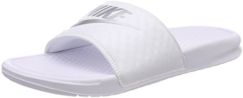 Nike wmns benassi jdi, scarpe da spiaggia e piscina donna, bianco (white 343881-102), 38 eu