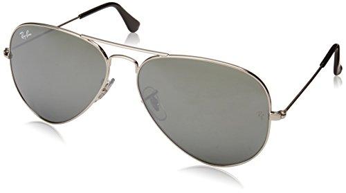 Ray-Ban Unisex-Erwachsene Mod. 3025 Sonnenbrille, Silber, 58