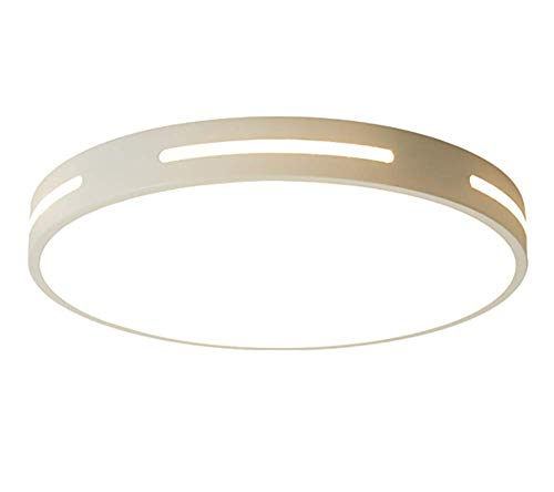 ZUEN LED-Scheibe Flush Mount Ceiling Fixtur, Ultra-Thin, 6000K Natrual White 18W Fluorescent, Round LED Light for Home, Hotel