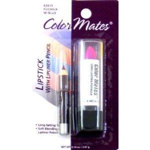 Color Mates Rouge à lèvres et crayon à lèvres - Fuchsia - 4,1 ml (Ensemble de 4)