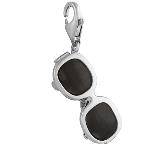 Thomas Sabo Sonnenbrille Charm Anhänger Silber schwarz emailliert T0089-007-11
