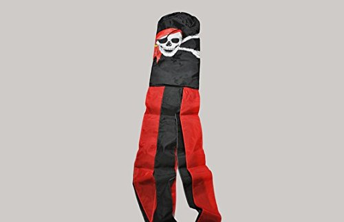 The Flag Wholesaler b037509 Pirat Bandana Windsack, mehrfarbig, 24 x 1 x 23 cm
