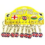 Trolley Coin Keyring 12/Pk - Union Jack