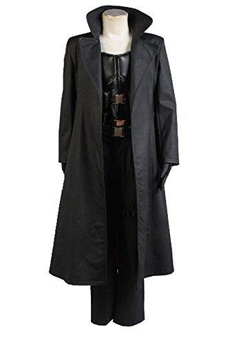 Fuman Blade Wesley Snipes the Vampire Slayer Mantel Kostüm Weste Hose Set Cosplay Kostüm Herren XXXL (Wesley Snipes Vampir)