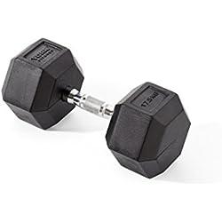 York Fitness, Pesas Hexagonales De Caucho, Negro, 2 X 5Kg