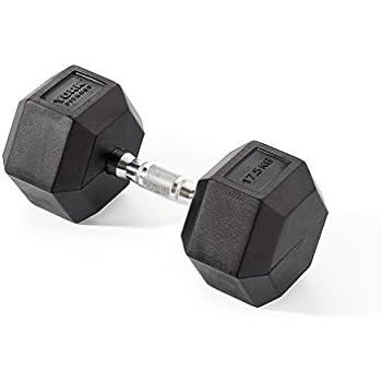 York Fitness, Pesas Hexagonales De Caucho, Negro, 2 X 1.25Kg