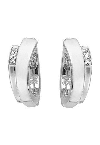 christ-silver-diamonds-damen-creole-925er-silber-4-brillanten-ca-001-ct-one-size-silber