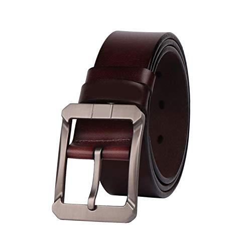 Cinturones de cuero genuino para los hombres de la marca para hombre Pin Hebilla Jeans Cowboy Mens Cinturón de cuero de lujo de diseño de alta calidad
