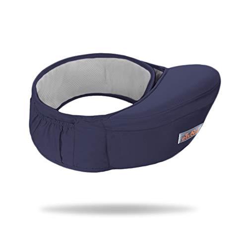 Jolicobo Baby Hüftsitz Leichte Taille Hocker 4 Tragepositionen Multifunktional Babytrage mit Einstellbar länger Gürtel und Ergonomischer Multi-Position für Kinder 0-36 Monate Blau