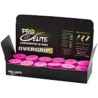 overgrips Pro Elite Confort Perforados Rosas Flúor. Caja 10+2 unds.