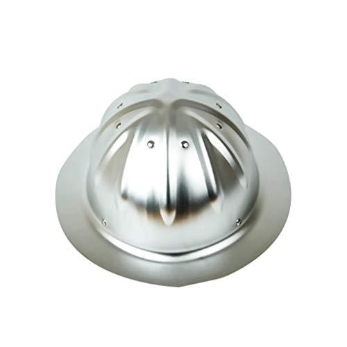 TANG CHAO Bauarbeiterhelm mit verstellbarem Helm, Bauhelm Aluminium (Color : Silver)