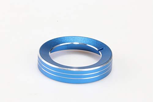Interior Auto Fahrzeug Zubehör, für Mustang F150 2015-2018, Scheinwerfer Lampe einstellen Control Button Knopf Rahmen Ring Cover Trim Aluminiumlegierung blau, 1 Stück/Satz (Scheinwerfer Für Ford F150)