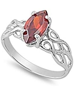 Ring aus Sterlingsilber mit Zirkonia - Keltisches Design