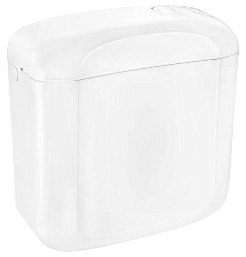Cornat Aufsatz-Spülkasten HALIOS, weiß/Zweimengenspülung / Toilettenspülung/Aufputzspülkasten / Toilette/Badezimmer / SPK1300