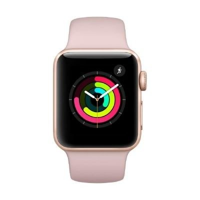 Apple Watch Series 3, 38 mm, Aluminiumgehäuse gold, Sportarmband sandrosa