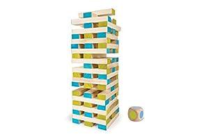 BS Toys-Gran Torre Juego con 60 Bloques y Dados (Multicolor), (BuitenSpeel B.V. GA277)
