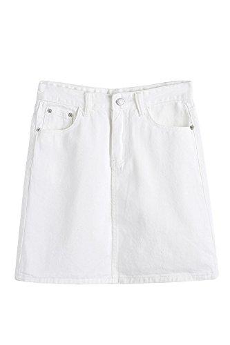 Women Jeans High Waist Bodycon A Line Denim Skirt