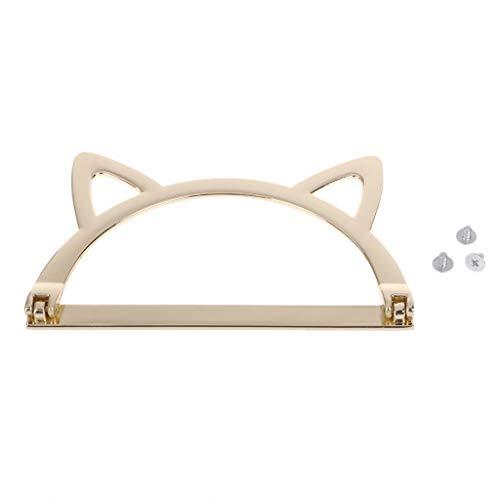 Eliky Niedliche Katze Ohr Metall Tasche Griff Ersatz Für DIY Umhängetaschen Machen Handtasche Zubehör (Griffe Tasche)