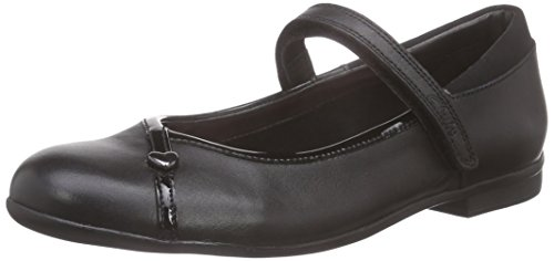 ClarksDolly Babe Jnr - Ballerine Bambina, Nero (Black Leather), 37