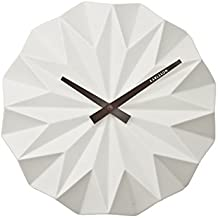 Karlsson Origami Quartz wall clock Other White - Wall Clocks (White, 60 mm, 27 cm)