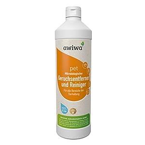 awiwa pet Geruchsentferner für Hunde und Katzen Geruchsneutralisierer Uringeruch Geruchsvernichter Tiergeruch Fleckenentferner Tierurin Reiniger für Katzenklo Geruchskiller Hundegeruch und Katzenurin (1 Liter Konzentrat)