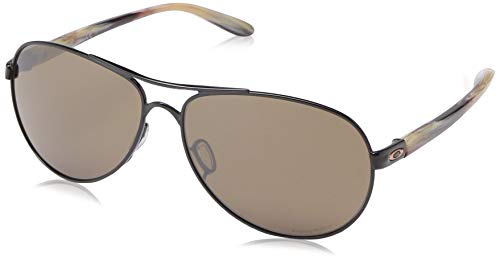 Ray-Ban Damen 0OO4079 Sonnenbrille, Gold (Polished Black), 59