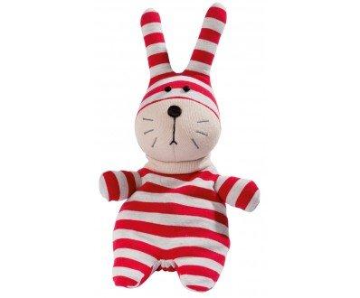 Greenlife Warmies Pop Peluche chauffante en forme de lapin avec garniture amovible et senteur lavande Rouge/gris