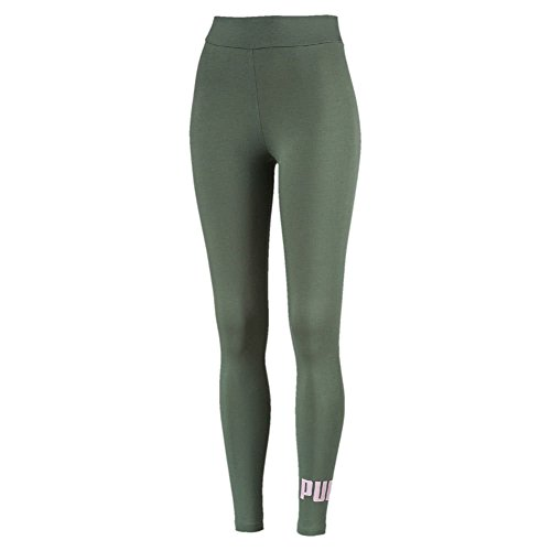 Puma ESS Logo Leggings Pants, Mujer, Laurel Wreath/Winsome Orchid, S