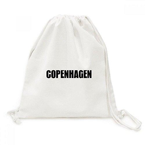 DIYthinker Kopenhagen Dänemark Stadt Name Canvas-Rucksack-Reisen Shopping Bags