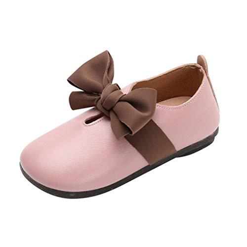 JiaMeng Kinder Mädchen Bogen Tanzschuhe Prinzessin Schuhe Schuhe
