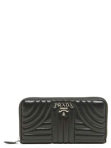 Prada luxury fashion donna 1ml5062b0xf0002 nero portafoglio | stagione permanente