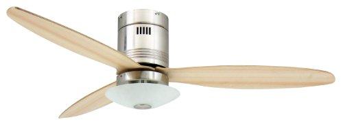 Deckenventilator mit Beleuchtung und Fernbedienung Aero - 132 cm, für Räume bis zu 25m² -