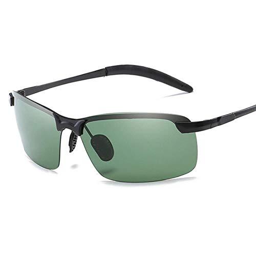 ZHOUYF Sonnenbrille Fahrerbrille Halb Grenzenlos Polarisierte Sonnenbrille Herren Uv400 Verspiegelt Sonnenbrille Retro, B