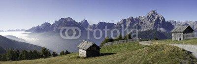 """Leinwand-Bild 190 x 60 cm: """"wandern am karnischen höhenweg in Südtirol - Dolomiten"""", Bild auf Leinwand"""