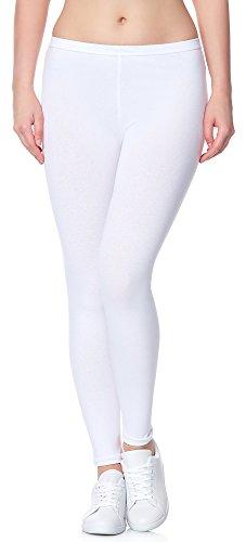 Ladeheid Damen Leggings Long LAMA02 (Weiß11, 4XL/5XL (Herstellergröße: 48/50))