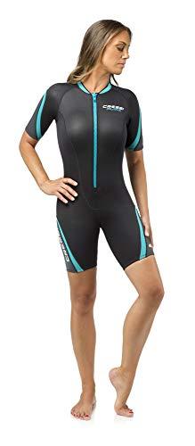 Cressi Damen Playa Lady Shorty Diving und Snorrkeling Neoprenanzug 2.5mm, Schwarz/Aquamarin, M/3