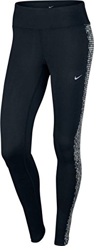 Nike Power Epic Run Damen Kompressions-Hosen, Schwarz, XL Nike Kompressions-hose