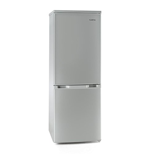 Klarstein Bigpack • Kühl- und Gefrierkombination • 115 Liter Kühlschrank • 45 Liter Gefrierfach • 3 Glas-Ablagen • Gemüsefach • 3 Türablagen • stufenlose Temperatureinstellung • wechselbarer Türanschlag • verstellbare Standfüße • silber
