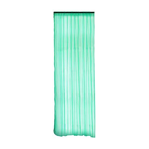 Cerlemi Gardine Transluzente Sheer Vorhang Voile Blumen Stickerei Vorhänge mit Ösen transparent Gardine Ösenvorhang Gaze paarig schals Fensterschal für Wohnzimmer Schlafzimmer