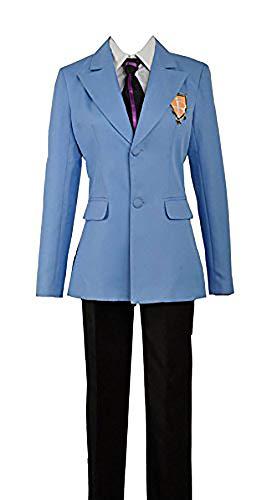 Kostüm Club Ouran Highschool Host - Anime Ouran High School Host Club Jacke Krawatte weiß Hemd Hose Cosplay Kostüm Custom Made