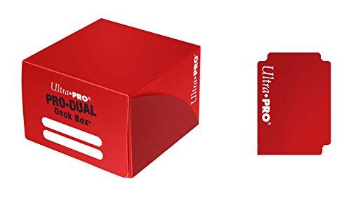 Ultra Pro 82989 - Deck Box - Pro Dual, rot -