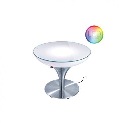 Moree Table Basse Lounge M45 Outdoor LED Multicolore + télécommande