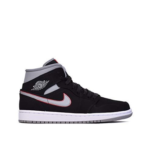 Nike Air Jordan 1 Mid, Sneaker a Collo Alto Uomo, Multicolore (White/Black/Gym Red 116), 41 EU