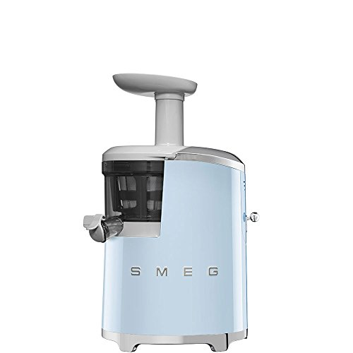 Smeg SJF01PBUK 50's Style Retro Slow Juicer Pastel Blue Best Price and Cheapest