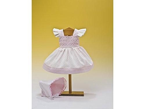 Mariquita Pérez Blanco Topos Rosa Capota Complementos, Color Vestido de colección diseño Propio (Comercial de Juguetes Maripe SL 1)