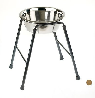 Raised Single Dog Feeder High Stand inc Bowl High stand Feeder for Larger Dogs (30cm High (22cm dia)
