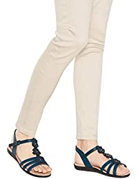 90e9e16824f Good for the Sole Navy Flower Detail  Gerbera  Wide and Comfort Fit Sandals