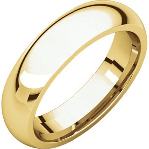 18kt Gelb 5mm Comfort Fit Wedding Band, Size- 8